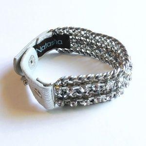 Natasha Silver Chain Diamond Bracelet